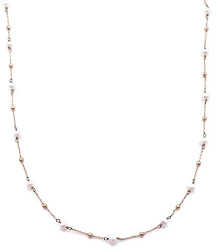 Gold Tone Beaded Chain - Mariana Swarovski Simulated Pearl Beaded Goldtone Cable Chain Long Necklace 48