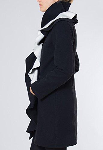 Negro De Varios Largo Abrigo Para Italia Hecho Caspar Invierno Mtl003 En Mujer Blanco Colores E7FRgq