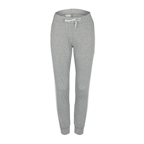 Pantaloni righe casual Coulisse Ladies Donne Bowtie Jeans Grigio Culater larghi a Sports gamba nbsp; Trouser vqt44xaw