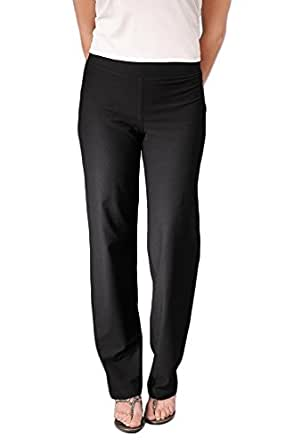 Eileen Fisher Women's Washable Stretch Crepe Straight Leg Pant xs black