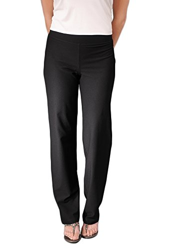 (Eileen Fisher Washable Stretch Crepe Straight Leg Pant w/Yoke Waistband)