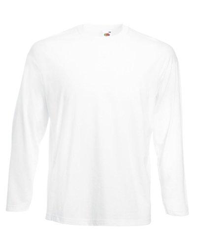 Fruit of the Loom - Camiseta de manga larga - para mujer blanco