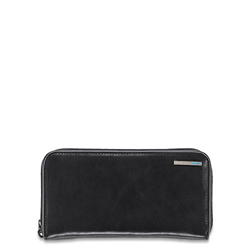 Piquadro Woman's Wallet In Leather, Black, One Size by Piquadro