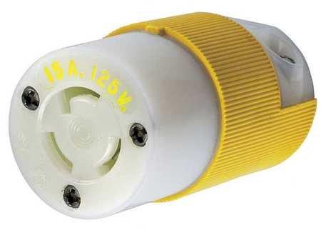 15p 3w 2p Plug (15A Locking Plug 2P 3W 125VAC L5-15P YL)