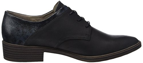 Tamaris 23301, Zapatos de Cordones Oxford para Mujer Negro (Black Comb 098)