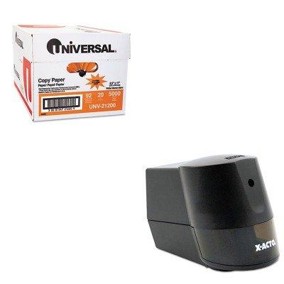 KITEPI19210UNV21200 - Value Kit - X-acto Model 2000 Home amp;amp; Office Desktop Electric Pencil Sharpener (EPI19210) and Universal Copy Paper (UNV21200)