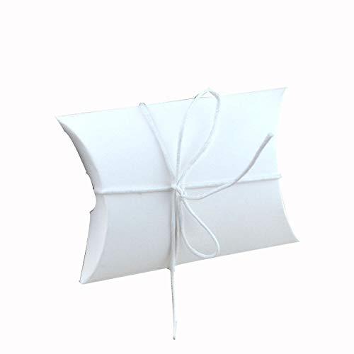 (HeroStore 100pcs Wedding Gift Boxes Kraft Pillow Shape Wedding Favor Gift Box Party Candy Box Wholes Festive Party Supplies)