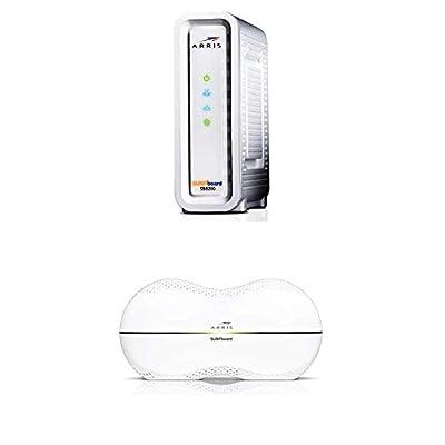 ARRIS SURFboard SB8200 Docsis 3.1 Modem / ARRIS RipCurrent AC1900 Dual-Band Wi-Fi Router