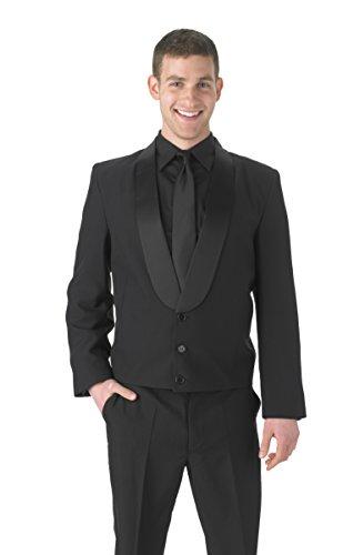 (Averill's Sharper Uniforms Men's 3 Button Shawl Eton Jacket 46 Black)