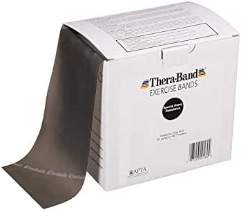 TheraBand Professional Latex Resistance Bands For Upper and Lower Body Exercise Workouts, Physical Therapy, Lower Pilates, Toning Exercises, and Rehab, 50 Yard Roll Dispenser Box