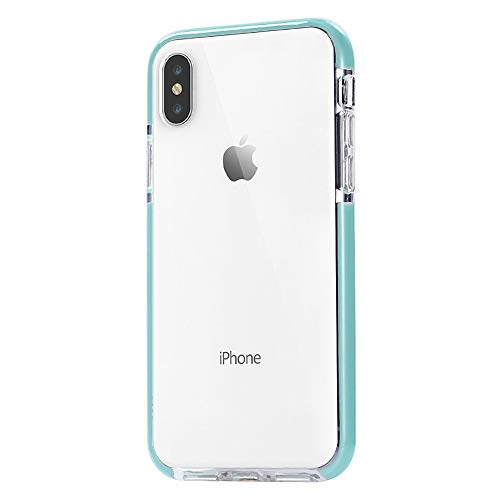 JAHOLAN Clear Case Flexible TPU Hybrid Shockproof Anti-Scratch Slim Thin Bumper Phone Case for iPhone Xs Max 2018 (6.5 inches) - Mint