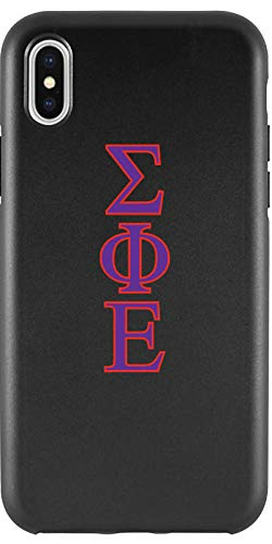 (Sigma Phi Epsilon - Letters Design on Black iPhone X Guardian Case from Fanmade and Coveroo)