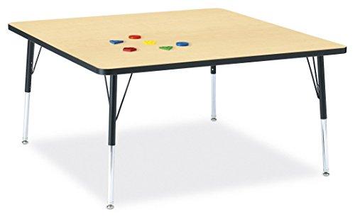 Jonti-Craft Ridgeline Kydz Square Activity Table (24-31 in. H - Maple)