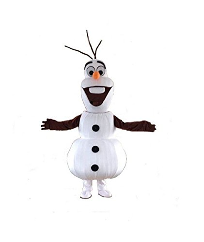Olaf Snowman Mascot Costume Cospaly Cartoon Character Adult (Olaf Costumes Adult)