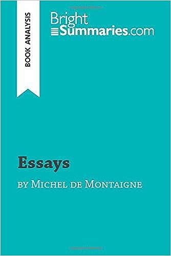 Montaigne essay analysis psw resume objectives