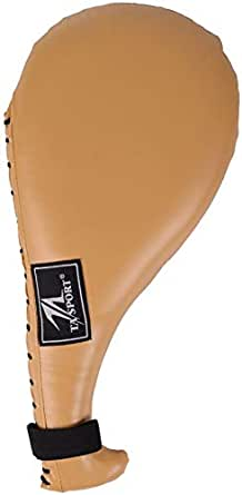 TA Sports Clap Mitt Double, Large - Beige [GS-9025LBeige]