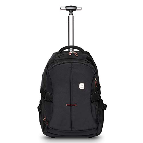 WEISHENGDA 19 inches Waterproof Wheeled Rolling Backpack for Adults and School Students Laptop Books Travel Backpack Bag