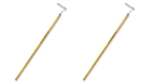 Nisaku NJP1010 4.5'' Blade Nejiri Stainless Steel Long Handle Hoe (2-Pack)