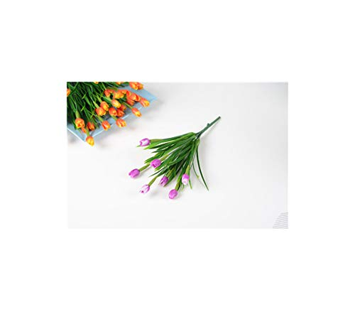 Artificial Tulips 7Heads Tulip Flower Bouquet Wedding Home Decoration,Rose -