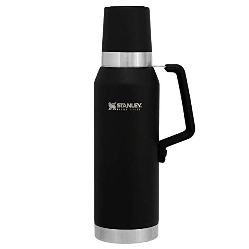 Stanley Master Stainless Steel Vacuum Insulated Flask Bottle, Foundry Black, 1.3 Litre