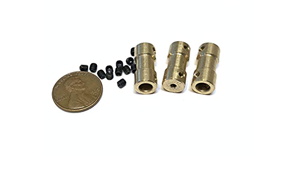 2 Pieces 5mm x 6mm 5x6 Motor Coupling Coupler Drive Shaft Connector boat rc A7