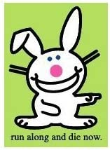 Happy Bunny Run Along Magnet BM1157 by Happy Bunny