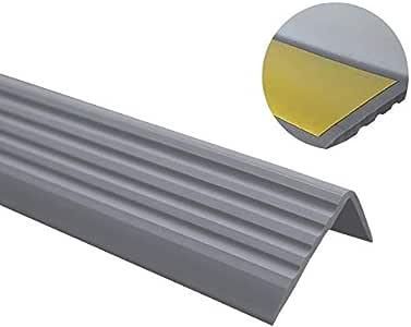 Perfil de borde de escaleras, PVC, goma, autoadhesivo, de vinilo, 50 x 42 RGP: Amazon.es: Bricolaje y herramientas