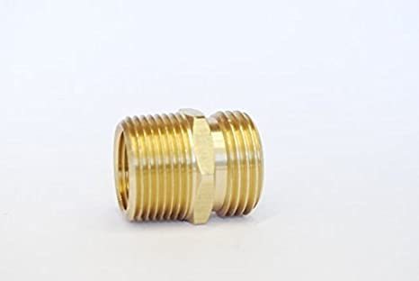MettleAir 196 E 34 Garden Hose to 34 NPT Brass CouplerAdapter