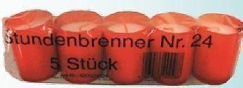 150 St. - 24 Stunden Brenner - St. Jakobs Öl-Lichter, Grabkerzen Grablicht, Farbe: rot und weiß (Rot)