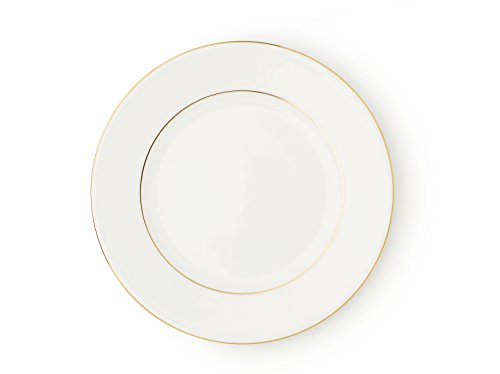 - The Allingham Gold Tableware Collection - Set of 6 Dinner Plates in Fine Bone China