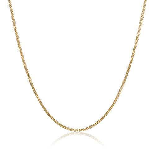 Italian Diamond Cut Wheat Chain Necklace