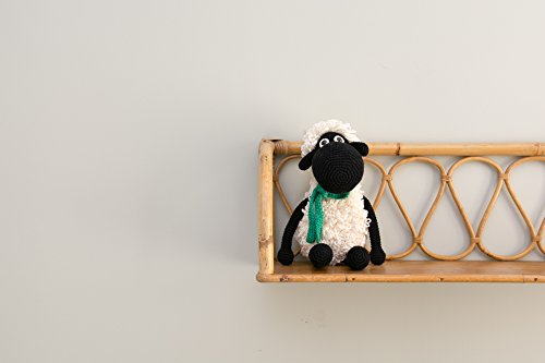 Darla the sheep, handmade crochet organic stuffed animal – black