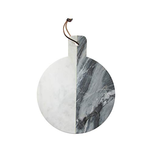 American Atelier Geometric Shaped Marble Cutting Boards/Serving Trays; Use for Cheese, Charcuterie, Breads or as a Decorative Piece (15