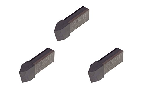 3 Pack LGTTHSR GROOVE 'N TURN L Series, Uncoated high speed steel, Threading insert for 8 to 56 TPI in plastics, composites, abusive cutting conditions and low RPM cutting. THINBIT made in USA