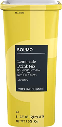 Amazon Brand - Solimo Lemonade Drink Mix, (6 packets)