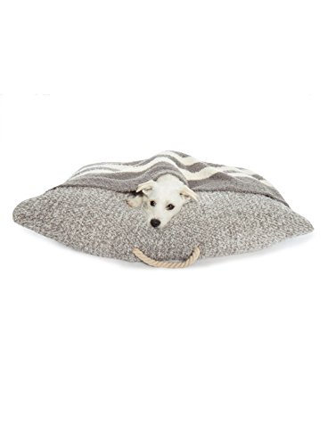 Barefoot Dreams CozyChic Pet Bed Heathered Warm Gray/Cream For Sale