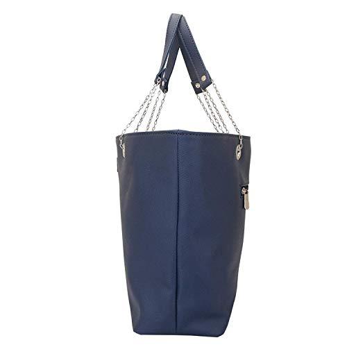 multifunzionale Tote per Blu O Periwinkle Design Lapis tascabile Lupo Bag donna xHv0Pq
