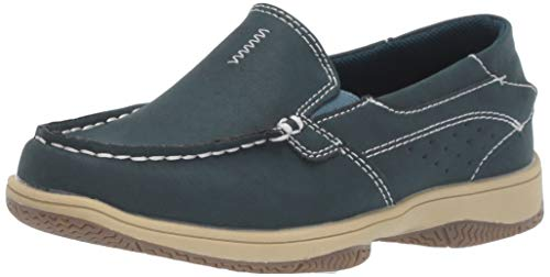 Deer Stags Boys' Evan Boat Shoe, Navy, 3.5 M Medium US Big Kid ()