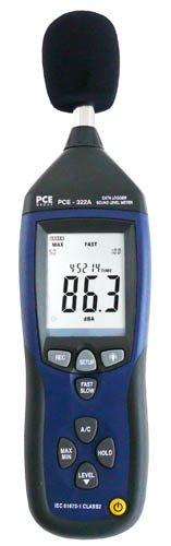 Schallpegelmesser PCE-322A / Klasse II / Schallpegelmessgeräte / Datenspeicher / Schallmessgerät / Lärmmessgerät / USB / Schallmesser / Lärm-Messgerät