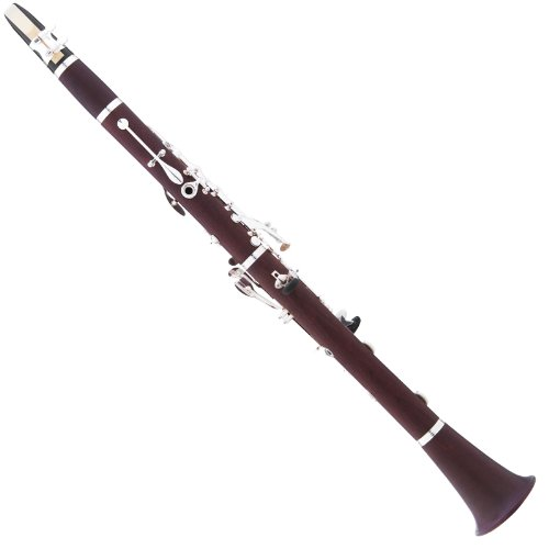 Cecilio 3Series CT-380 Solid Rosewood Bb Intermediate B-Flat Clarinet + Case, Mouthpiece, 10 Reeds and Accessories