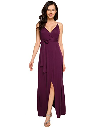 Zeagoo Womens V neck Backless Bohemian