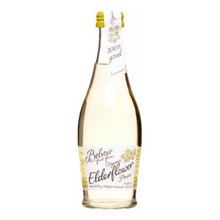 Belvoir Fruit Farms Elderflower Lemonade, All Natural and Organic Fruit Juice, Cocktail Mixer, 8.4 fl oz (12 Glass Bottles)
