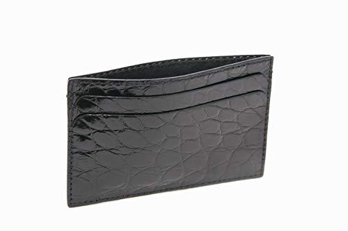 Hadley-Roma Bryant Park Black Genuine Alligator ID Card Case USA