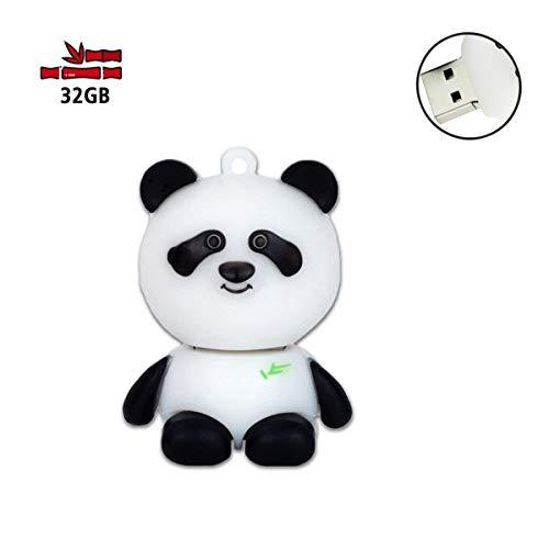 - 32GB USB Flash Drive, 32 GB USB Stick JBOS Cartoon Animal Pen Drive USB2.0 Novelty USB Memory Stick Thumb Drives for Date Storage, USB Stick, Jump Drive, Gig Drive, Flash Stick (Panda)