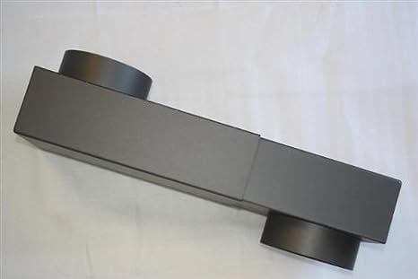 Tubo de humos, estufa caja diámetro 150/2 mm #288 hierro fundido gris: Amazon.es: Hogar