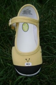 Monkey Toes Childrens Toddler Tennis Shoes (3, Buzzy Bees Mary Janes)