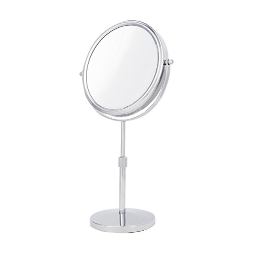 31bVAeNRfXL - Danielle Two-Sided 10X Magnification Vanity Mirror with Extendable Stem, Chrome