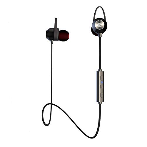 ONE Day Sale Best Bluetooth Earphones for Running – Wireless 4.1 in Ear Headphones IPX5 Sweatproof – Upgraded 2019 Design – Sport Earbuds with Noise Cancelling Michrophone aptX Auriculares