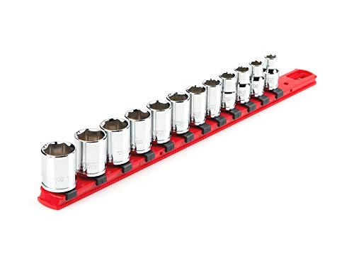 Juego de llaves de vaso de 6 puntos con transmisión TEKTON de 3/8 pulgadas, 12 piezas (8 - 19 mm) | SHD91102