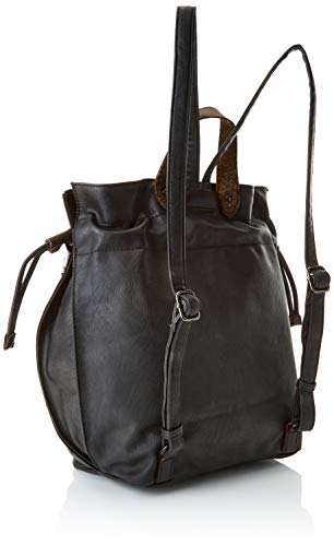 Backpack Munich Mujer Negro w Walked Cm black H L Para 27x9x40 X Mochila Bolso dqXXHwr